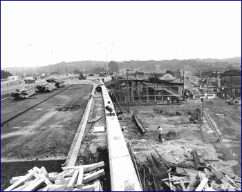 Harrow Manorway Flyover Under Construction, Thamesmead, 1975