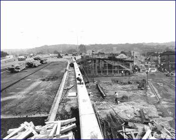Harrow Manorway Flyover Under Construction, Thamesmead, 1975