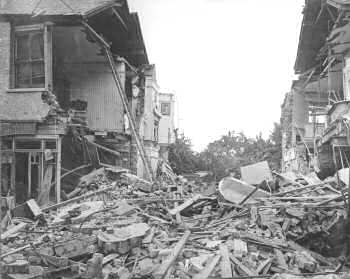 WWI Air Raid Damage, Baytree Road, Brixton, 1916