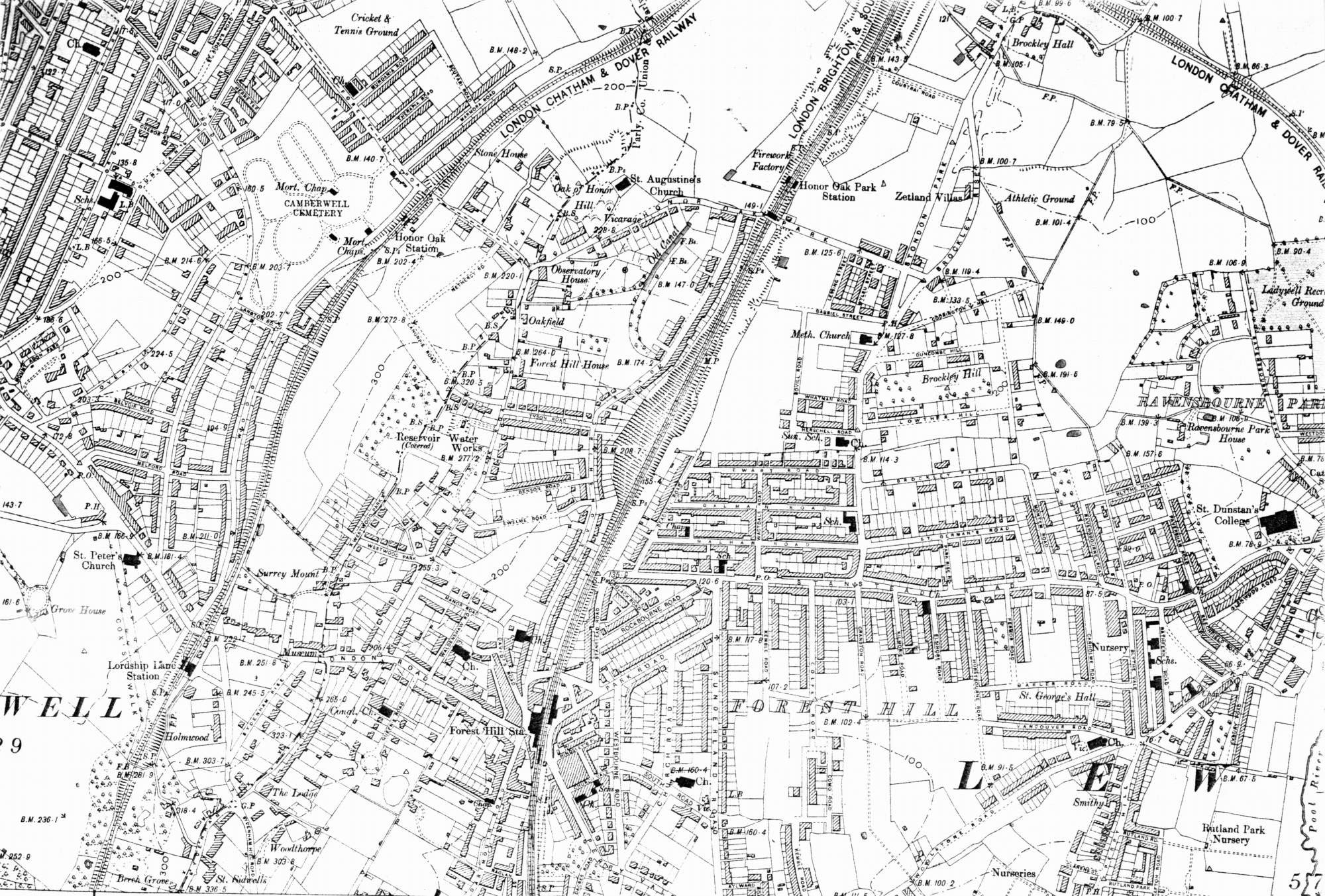 Map of Forest Hill in the 1890s   Ideal Homes