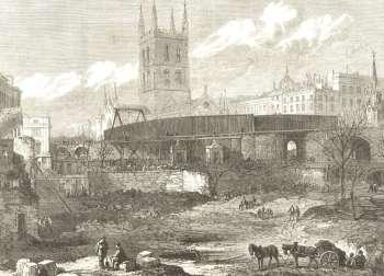 Railway Approach, Borough, 1863