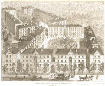 Peabody Square, Blackfriars Road, Bankside, Southwark, c.1872