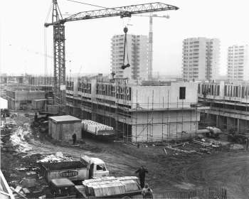Thamesmead Under Construction, 1968