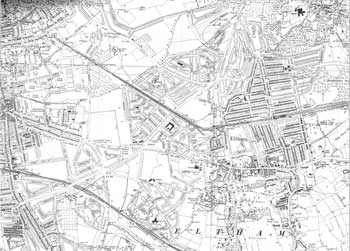 Map of Eltham and Kidbrooke, 1938