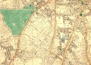 Clapham Common, Clapham Park and Brixton Hill, Lambeth, 1877