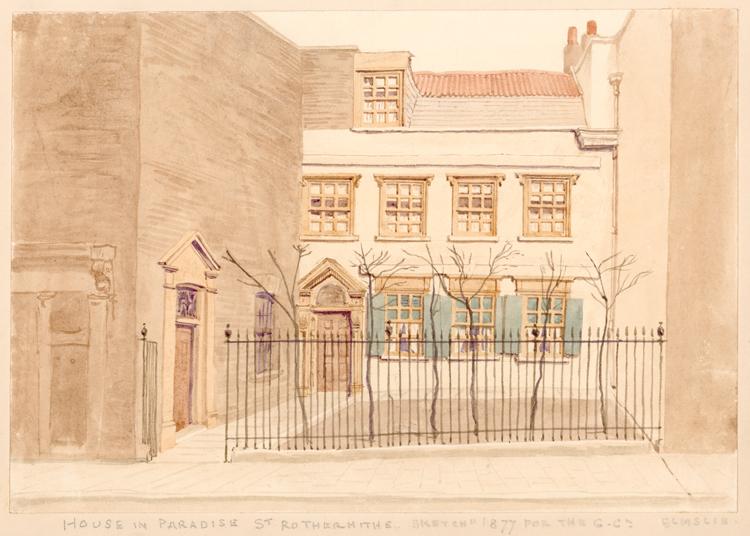 Paradise Street Rotherhithe 1826 London Borough Of