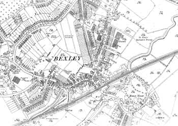 Map of Bexley Village, Bexley, 1933