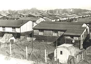 East Wickham Hutments, Welling, 1954