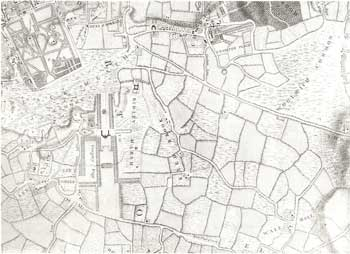 Map of Wricklemarsh, Blackheath and Kidbrook, 1746