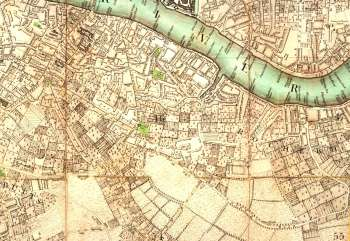 Map of Bermondsey, 1787
