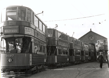 Bexleyheath Tram Depot, Broadway, Bexleyheath, 1934