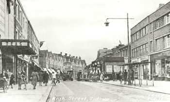 High Street, Sidcup, 1954