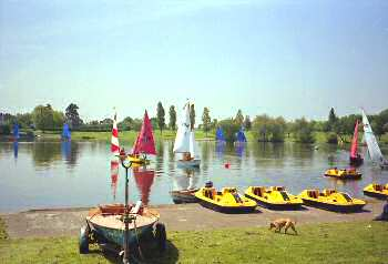 The Lake in Danson Park, Welling, 1986