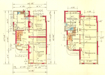 Plans of a Martins Villa, Danson Road, Bexleyheath, 1935