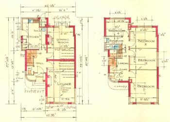 Plans of a Martins Villa, Danson Road, Bexleyheath, 1935