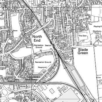 Map of Slade Green - click to enlarge