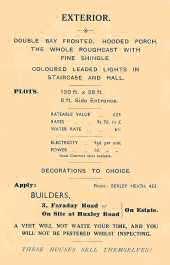 Huxley Road, Belle Grove Park Estate, Welling, c. 1930