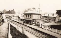 Bromley Station, Bromley, c. 1870