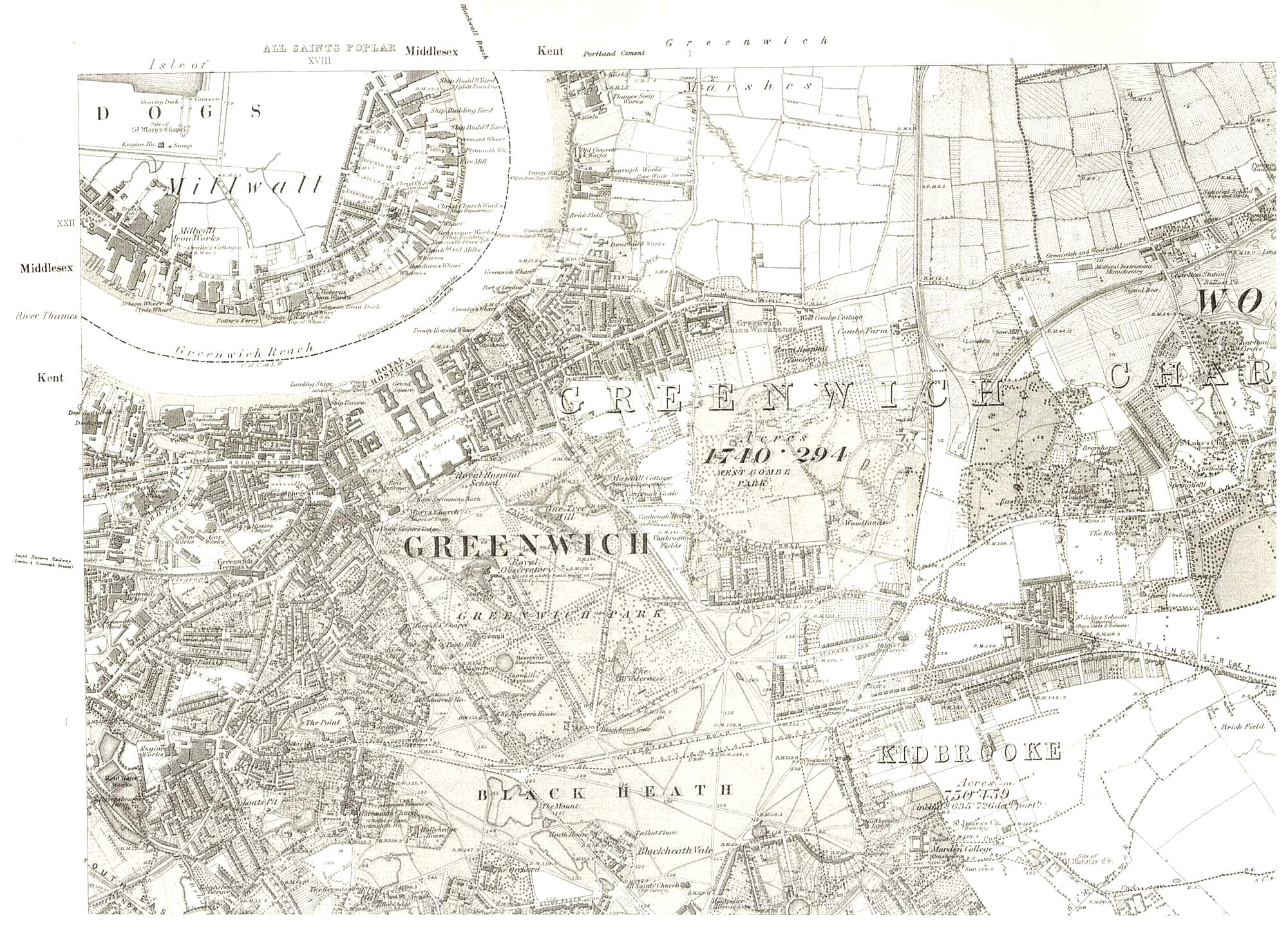 Map Of Greenwich And Blackheath Ideal Homes - Old os maps