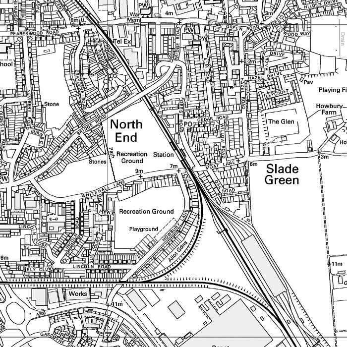 Map of Slade Green