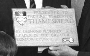 Thamesmead's first residents