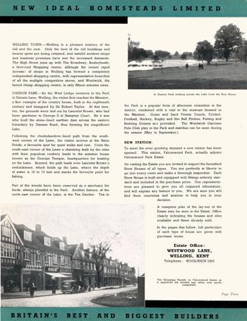 Falconwood Park Estate, Welling, 1931