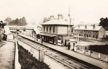 Bromley South Station, c.1870