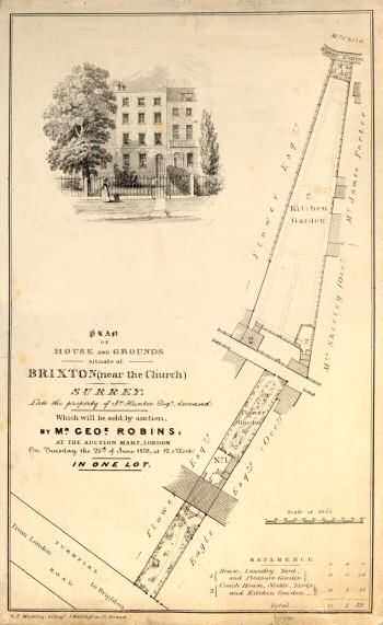 Turnpike Road Plan, Brixton, 1839
