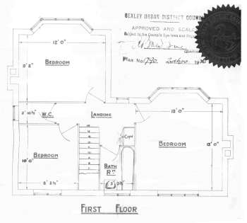 Plans of Ellingham Houses, Danson Road, Bexleyheath, 1926