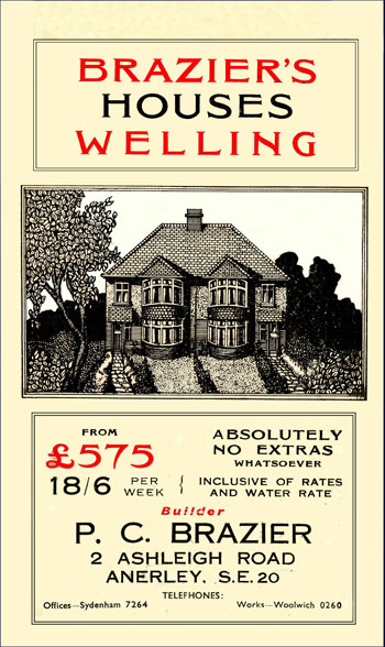 Brazier's Brochure for Anthony Road Estate, Welling, c. 1930