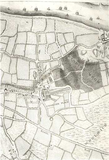 Map of Charlton, 1746