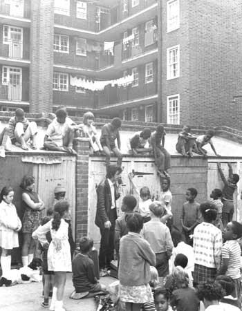 Storytelling at Cowley Estate, Brixton, 1972