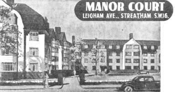 Manor Court, Leigham Avenue, Streatham, 1938