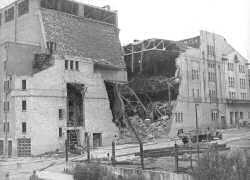 WWII V1 Rocket Damage, Streatham Hill Theatre, Streatham Hill, 1944