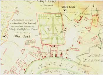 Map of Central Greenwich, 1695