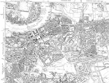 Map of Central Greenwich, 1938