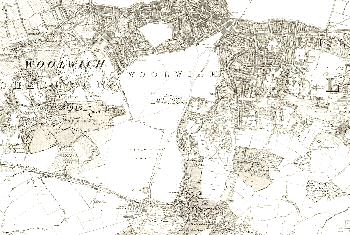 Map of Woolwich and Charlton, 1869