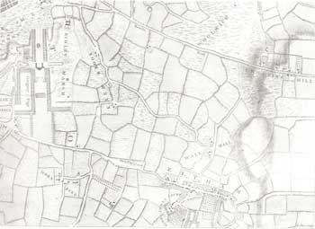 Map of Eltham and Kidbrooke, 1746