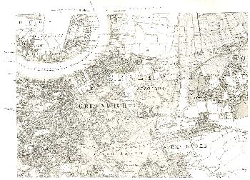 Map of Greenwich and Blackheath, 1869
