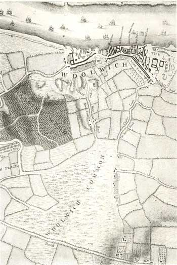 Map of Woolwich, 1746