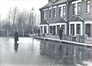 Floods in Abbey Wood, 1953