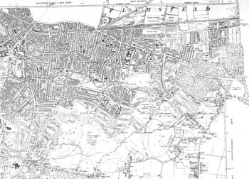 Map of Woolwich, Plumstead and Shooter's Hill, 1938