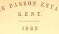 Danson Estate Catalogue Cover, 1922