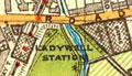 Map of Ladywell, Lewisham, 1930